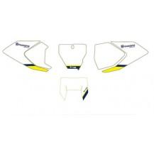 Serie adesivi portanumero colore bianco